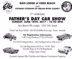 Th Annual Fathers Day Car Show Vero Beach Elks - Vero beach car show